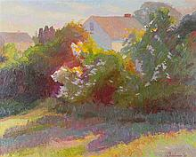 JOHN EBERSBERGER LANDSCAPE Oil on canvas: