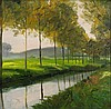 ARTIST UNKNOWN (20TH CENTURY) THE RIVER ALLEE Oil on board: 9 x 9 in. (sight)