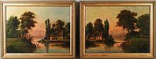 AMERICAN SCHOOL (19TH/20TH CENTURY) A PAIR OF LANDSCAPES Oil on canvas: 17 x 23 in.