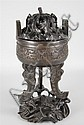 CHINESE BRONZE ARCHAISTIC TRIPOD CENSER, LATE QING DYNASTY