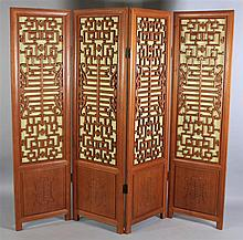 CHINESE SOFTWOOD FRETWORK SCREEN