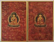 PAIR OF AMITAYUS BUDDHA THANGKA