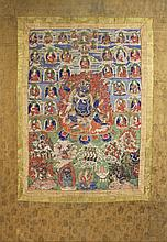 SINO-TIBETAN THANGKA POSSIBLY OF VAJRAPANI