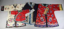 GROUP OF CHINESE SILK EMBROIDERED ROBES