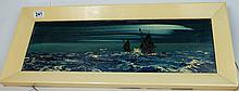 George R. Deakins (1911-1982) impressionistic oil on board 'Sail Boats', signed, 74cm x 125c