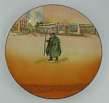 Royal Doulton Dickens seriesware large charger Tony Weller D6327 diameter 34cm
