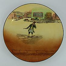 Royal Doulton Dickens seriesware large charger Trotty Vack D5175 diameter 34cm
