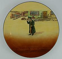Royal Doulton Dickens seriesware large charger Mr Squeers D5175 diameter 34cm