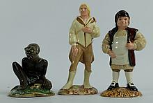 Royal Doulton figures from The Middle Earth series to include Barliman Butterbur HN2923, Legolas HN2917 and Gandalf HN2911 (3)