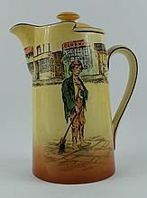 Royal Doulton Dickensware water jug Poor Joe D5175 height 20cm
