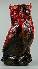 Royal Doulton large flambe model of Owl, height 29cm
