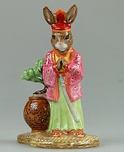 Bunnykins Samurai Pink and Green Colourway Ltd Edt 100 Commemorating the 75th Bunnykins Anniversary (Boxed with Certificate)