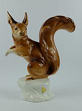Royal Dux model of a Squirrel, height 23cm