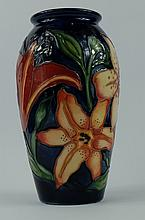 Moorcroft rare vase decorated in the Tigres design by Racheal Bishop, height 19.5cm