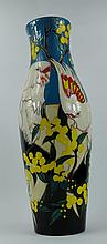 Moorcroft vase decorated in the Major Mitchell Cockatoo design by Vicky Lovatt, height 43cm