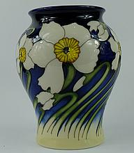 Moorcroft vase decorated in the Spring Breeze design by Kerry Goodwin, height 18cm