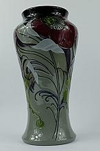 Moorcroft vase decorated in the Clonter Wood design by Emma Bossons, height 26.5cm