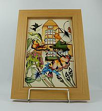 Moorcroft Chartwell House Plaque limited edition 39cm x 28cm