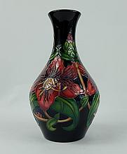 Moorcroft Red Floral trial vase height 20cm