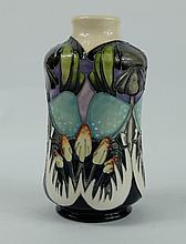 Moorcroft Indigo lace vase height 13cm