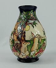 Moorcroft Hare and Tortoise vase height 20cm