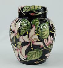 Moorcroft Karzai Honeysuckle ginger jar height 15cm