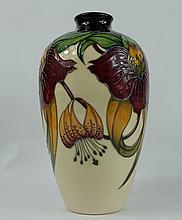Moorcroft Anna Lily vase height 24cm
