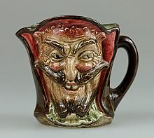 Royal Doulton small double sided character jug Mephistopheles (with verse)