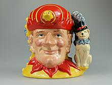Royal Doulton large two sided character jug Punch and Judy D6946 limited edition with certificate