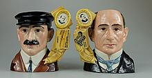 Royal Doulton large pair of character jugs Wilbur Wright D7179 and Orville Wright D7178 limited edition both with certificates (2)