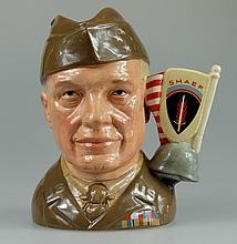 Royal Doulton large character jug General Eisenhower D6937 from the Great Generals collection limited edition with certificate