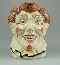 Royal Doulton large rare character jug The Brown haired clown