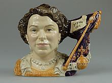 Royal Doulton small character jug Queen Elizabeth II Coronation D7168