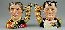 Royal Doulton pair of character jugs Napoleon D7001 and Wellington D7002 (both limited edition) (2)