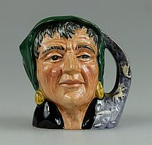 Royal Doulton miniature character jug The Fortune teller D6523