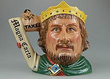 Royal Doulton large character Jug King John D7125, limited edition