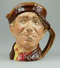 Royal Doulton large character jug Pearly Boy with brown buttons