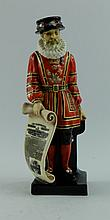 Royal Doulton early figure The standing Beefeater advertising London Illustrated news