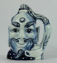 Royal Doulton large Blue Flambe character jug Aladins genie D6971