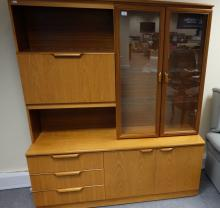 Large Teak bookcase/ cabinet ''Stateroom'' by Stonehill Furniture Co