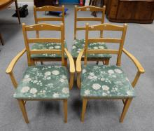 Four ladderback chairs (4)