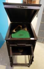 Oak Barley Twist Cliftophone floor standing gramophone