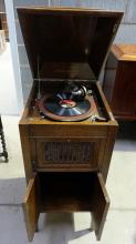 Oak Aeolian Vocalion floor standing gramophone