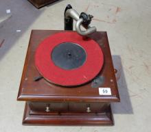 Oak H.M.V model 103 table top gramophone