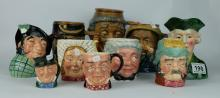 A collection of continental character jugs (10)