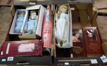 A collection of Alberon dolls including large Pippa and Sophia and 8 various smaller ones, all in original boxes  (10)