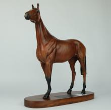 Beswick connoisseur model of Red Rum 2510 on wooden base