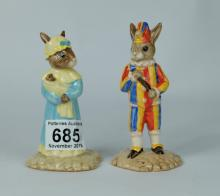 Royal Doulton Limited edition Bunnykins figures Mr Punch DB234 and Judy DB235 (2) (both boxed with certificates)
