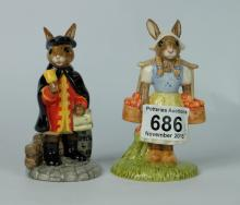 Royal Doulton Limited edition Bunnykins figures Town Crier DB259 and Dutch DB274 (2) (both boxed with certificates)