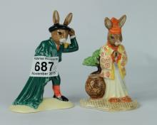 Royal Doulton Limited edition Bunnykins figures Samurai DB280 and Matador DB281 (2) (both boxed with certificates)